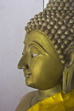 Buddha head. Old Buddha preserved in the ancient church, which will eventually clear Buddhist faith and believed to be sacred Royalty Free Stock Photography