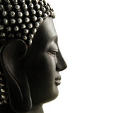 Buddha Head profile isolated Royalty Free Stock Photography