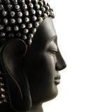 Buddha Head profile isolated Royalty Free Stock Photography