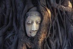 Buddha head,buddha statue in buddhism temple thailand,. Temple landmark of Bangkok,identity culture of Thailand Stock Photo