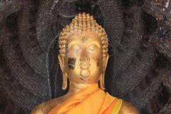 buddha head staty Royaltyfri Bild