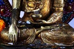 buddha head staty Arkivfoto