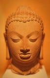 Buddha head, stenar, Gupta den 5th århundradeANNONSEN Arkivbilder