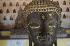 Buddha-head. Buddha temple in venetian , lao Royalty Free Stock Images