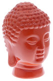 Buddha Head in Vibrant Orange Royalty Free Stock Photos