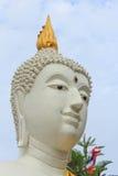 buddha head white Fotografering för Bildbyråer