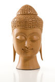 Buddha Head on White Stock Photography