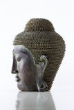 Buddha head on a white background Stock Images