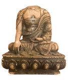 Buddha headless isolated. Seated in a religious sculpture stock photo