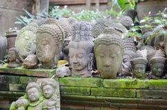 Buddha heads Stock Photo
