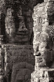 Buddha heads at Bayon in Siem Reap Stock Photo