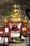 The Buddha held Oblation.Thai-style worship Stock Images