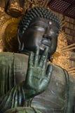 Buddha hand Todaiji Temple in Nara stock photos