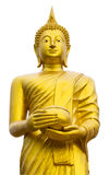 Buddha holding a golden bowl Stock Image