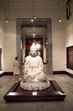 Buddha in Hong Kong Heritage Museum. An old buddha status displayed in Hong Kong Heritage Museum royalty free stock photos