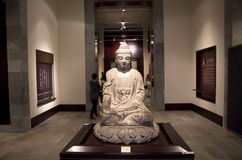 Buddha in Hong Kong Heritage Museum. An old buddha status displayed in Hong Kong Heritage Museum royalty free stock photo