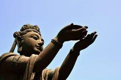 buddha Hong Kong solbränt tian Fotografering för Bildbyråer