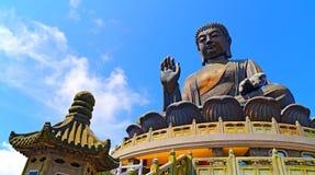 buddha Hong Kong solbränt tian royaltyfri fotografi