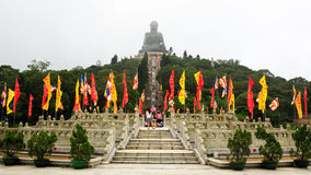 buddha Hong Kong solbränt tian arkivfoton
