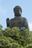 buddha Hong Kong staty Arkivbild
