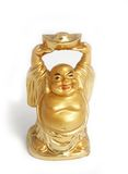 Buddha (Hotei, Budai) netsuke feng shui figurine Stock Photos