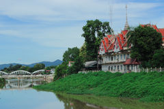 Buddha house historical park temple in liver water Stock Photo