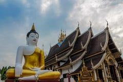 Buddha huge statue in Thailand temple buddhist wat pagoda yard stock image