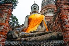 Buddha i Ayutthaya Thailand Arkivbild