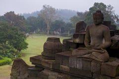 Buddha i Borobudur Royaltyfri Fotografi