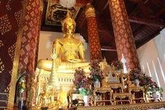 Buddha i den belived templet Royaltyfri Foto