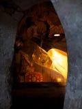 Buddha i den sakrala grottan Royaltyfri Foto
