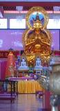 Buddha i den Sam Poh templet nära Brinchang Arkivfoto