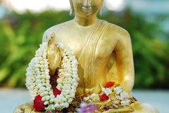 Buddha i den Songkran festivalen Thailand Royaltyfri Bild