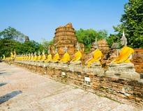 Buddha i forntida Ayutthaya Arkivfoton