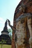 Buddha i forntida tempel Royaltyfri Bild