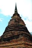 Buddha i forntida tempel Royaltyfria Foton