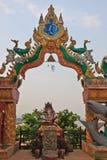 Buddha i klädseln av en vit elefant Royaltyfria Bilder