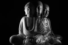 Buddha i Ksitigarbha rzeźba Obrazy Stock