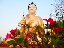 Buddha i solnedgångsikt Arkivfoto