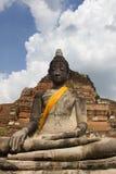 Buddha i Wat Mahathat Fotografering för Bildbyråer