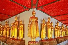 Buddha i Wat Pho thailand Royaltyfri Fotografi