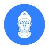 Buddha icon isolated on white background. Religion symbol stock vector illustration. Buddha icon isolated on white background. Religion symbol vector vector illustration