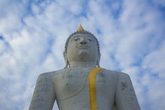 Buddha idol worship. In Thai temple be respectful of many people Royalty Free Stock Images