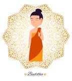 buddha illustration vektor illustrationer