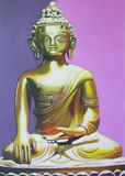 Buddha illustration painting meditation. Buddha illustration oilpainting meditation abstract blackground Stock Photo