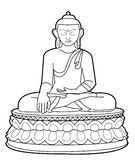 Buddha. Illustrator desain .eps 10 Royalty Free Illustration