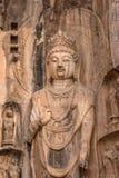 Buddha im Felsen Stockfoto
