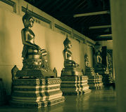 Buddha im Tempel Stockfotografie
