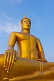 Buddha im Tempel. von, Bangkok Lizenzfreie Stockbilder