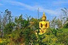 Buddha im Wald Stockbild